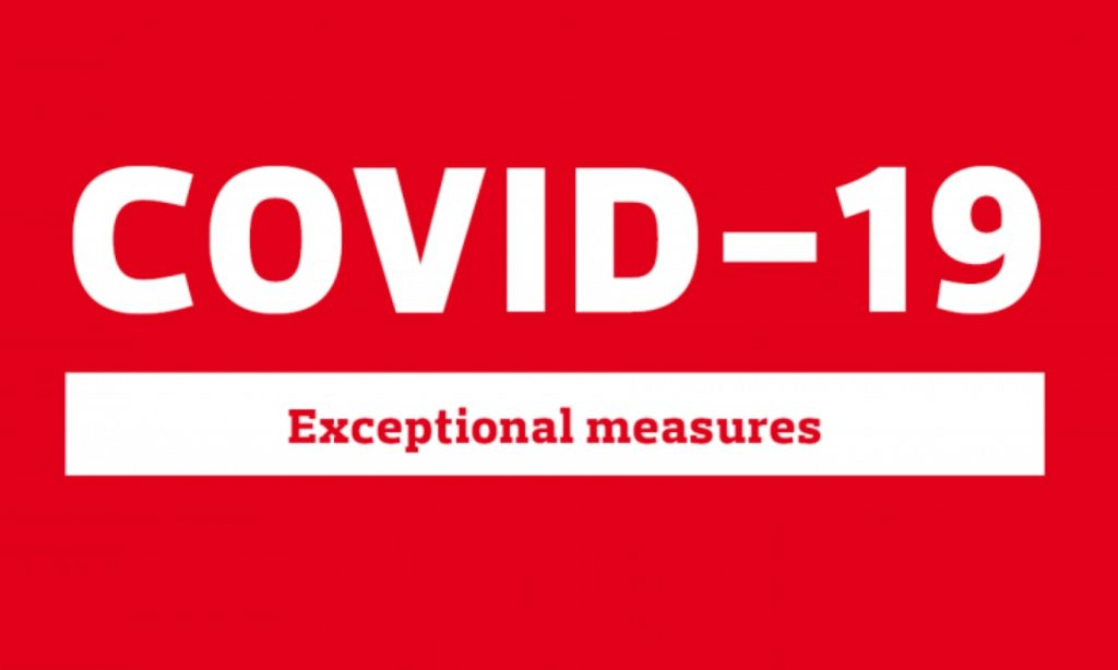 IMAGE: COVID-19 Exceptional measures