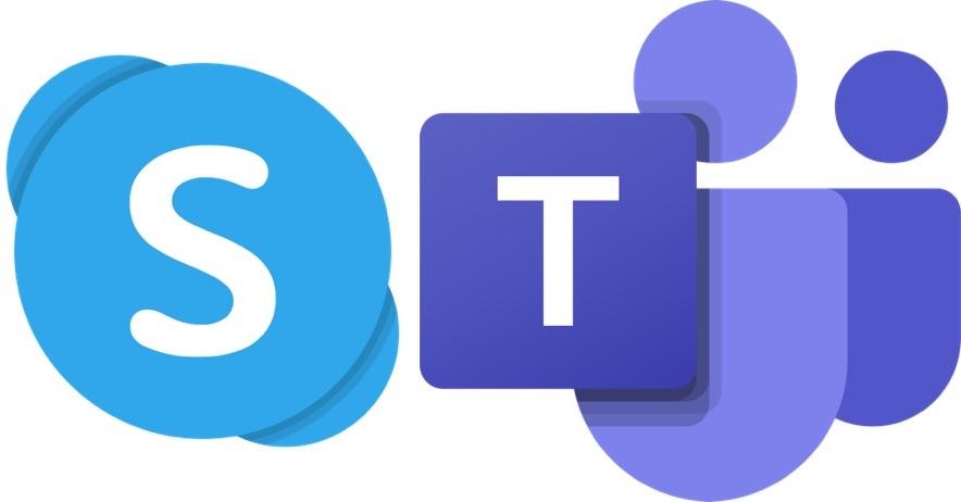 IMAGE: Skype and Teams logo - Microsoft