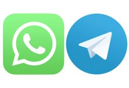 IMAGE: WhatsApp and Telegram logos