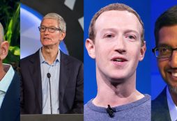 IMAGE: Jeff Bezos, Tim Cook, Mark Zuckerberg and Sundar Pichai