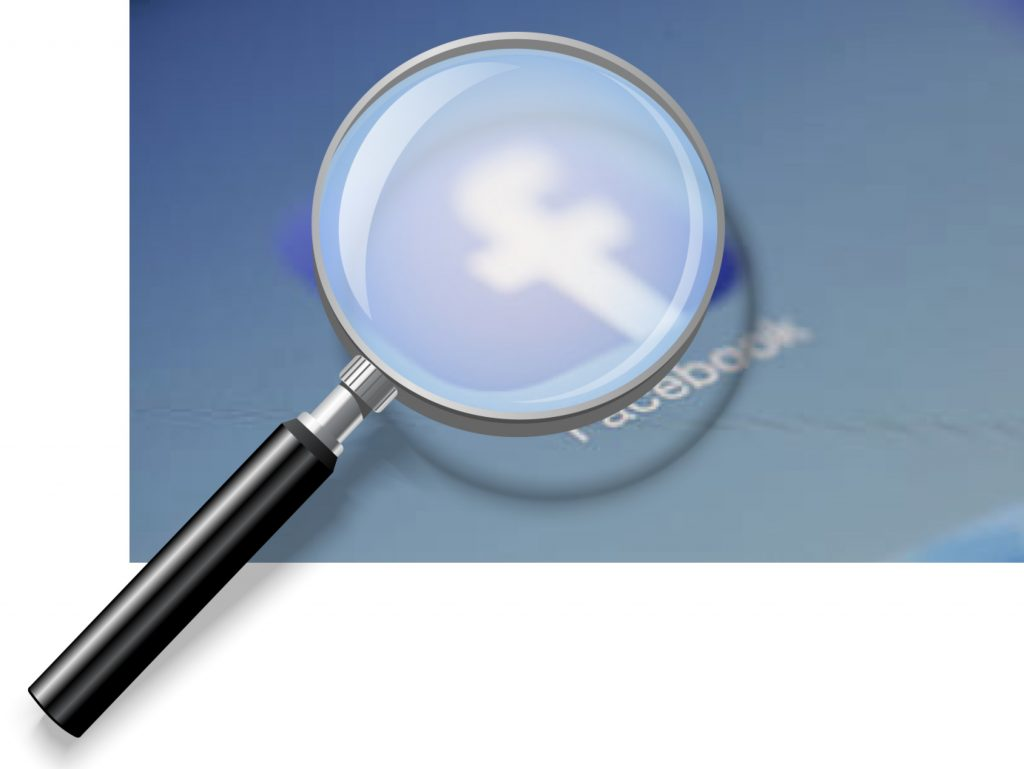 IMAGE: Facebook under magnifying glass
