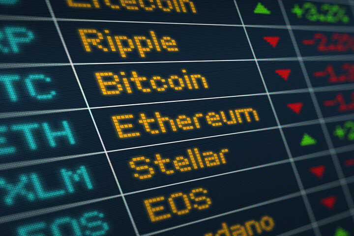 IMAGE: Cryptocurrency stocks LED screen - QuoteInspector.com (CC BY ND)