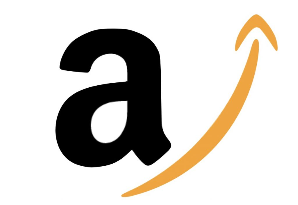 IMAGE: Amazon logo w/ arrow pointing upwards