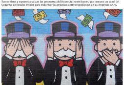 """IMAGE: """"Monopolio sí, no, tal vez: las posibles sanciones a Google, Facebook, Apple o Amazon"""" - El País"""