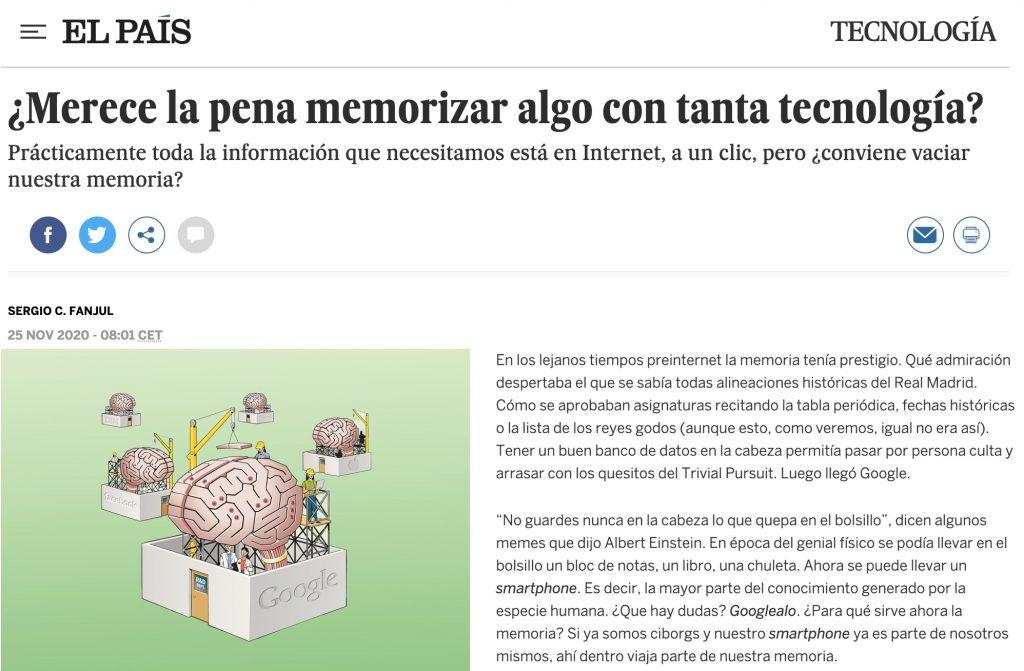 ¿Merece la pena memorizar algo con tanta tecnología? - El País