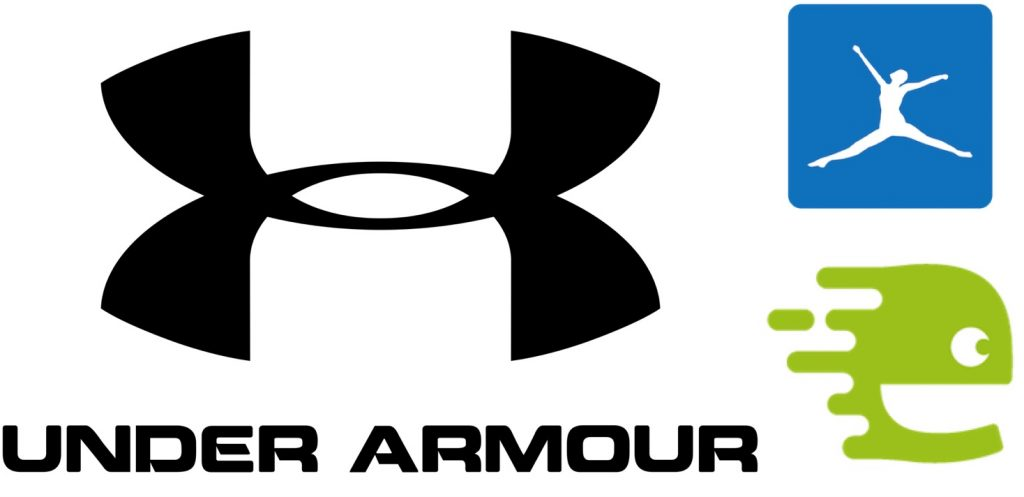 IMAGE: Under Armour, MyFitness Pal and Endomondo logos