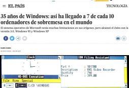 35 años de Windows: así ha llegado a 7 de cada 10 ordenadores de sobremesa en el mundo - El País