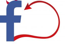 IMAGE: Facebook logo with devilish horns and tail (CC0)