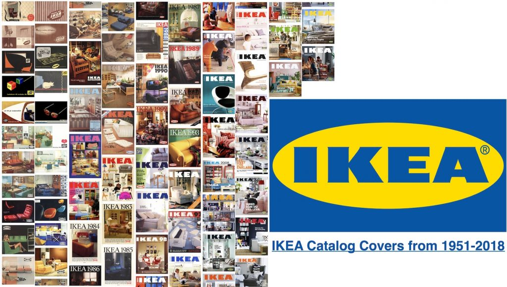 IMAGE: IKEA Catalog Covers from 1951 - 2018