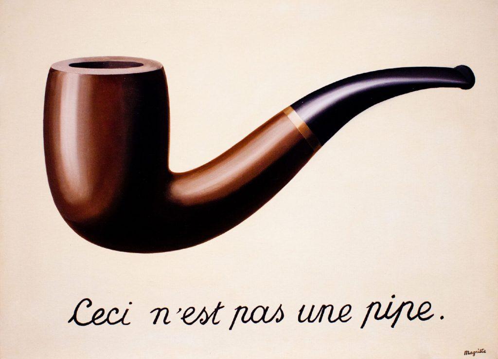 IMAGE: Ceci n'est pas une pipe - René Magritte