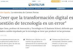 """""""Creer que la transformación digital es cuestión de tecnología es un error"""" - Hosteltur"""