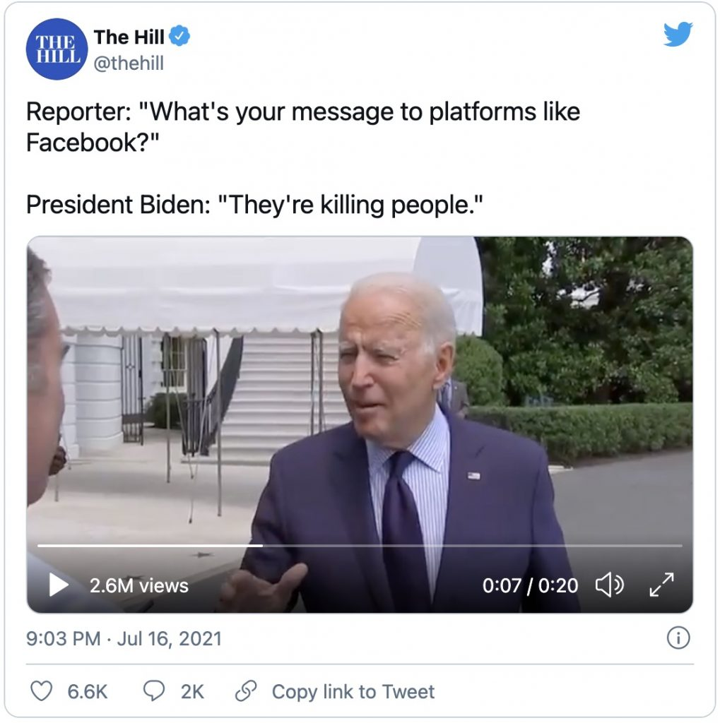 IMAGE: Facebook killing people (@TheHill on Twitter)