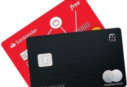 IMAGE: Santander and Revolut cards