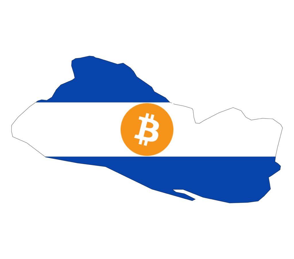 IMAGE: Bitcoin symbol over El Salvador map