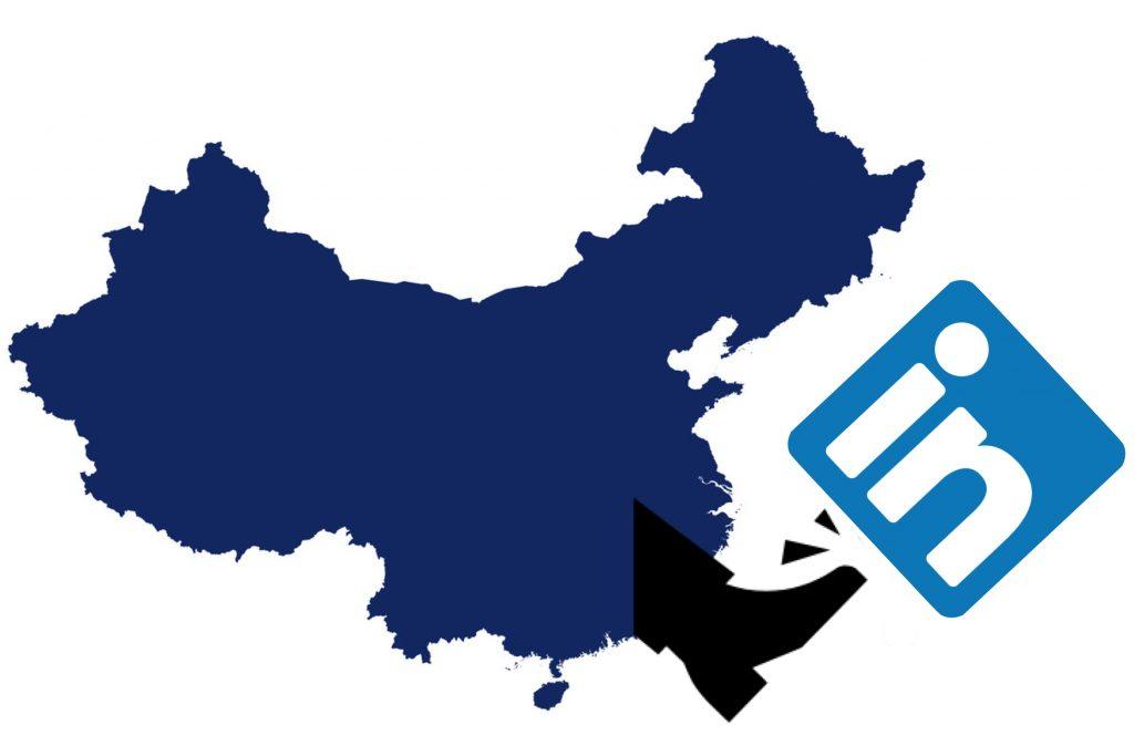IMAGE: China map kicking LinkedIn away