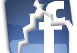 IMAGE: Facebook logo broken