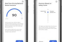 IMAGE: Tesla Insurance Real Time Driving